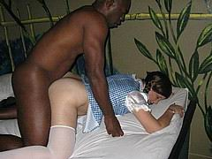 white chicks punished with big black cocks