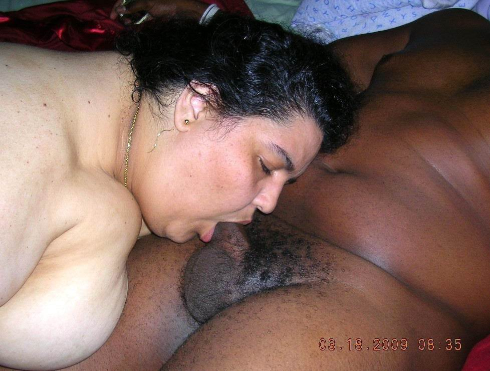 Sucking cum out of a cock